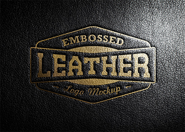 Download Logo Mockup PSD Terbaru Gratis - Leather Stamping 2 Logo Mockup