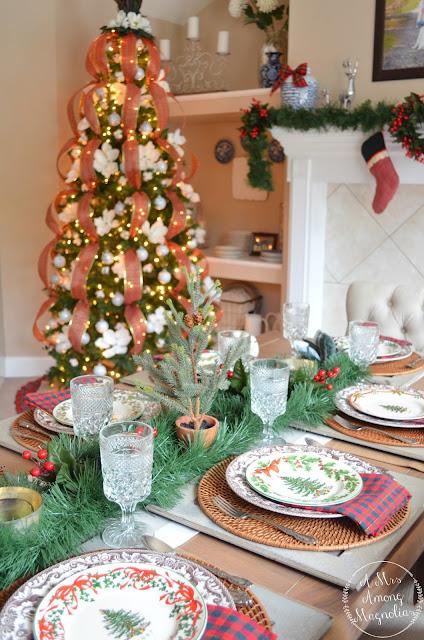 Farmhouse Christmas Tablescape A Mrs Among Magnolias
