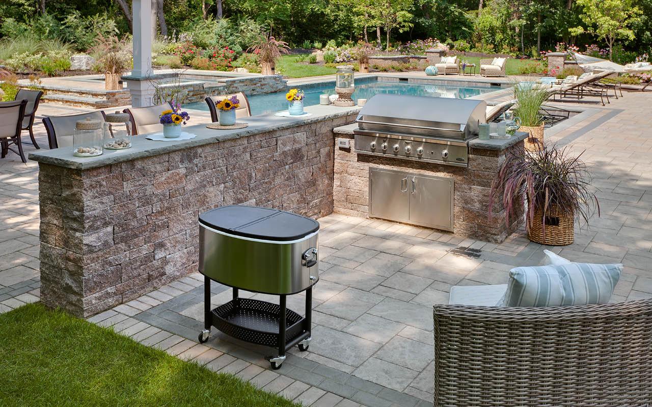 outdoor patio area for elegant home design with fresh courtyard - Design A Patio Area