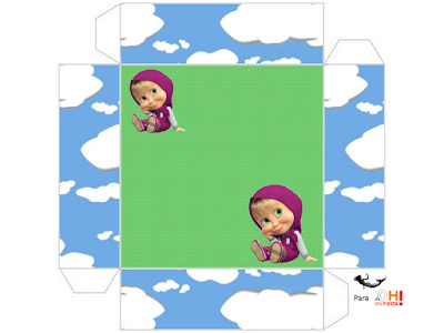 Masha and the Bear: Free Printable Boxes.   Is it for PARTIES? Is it ...