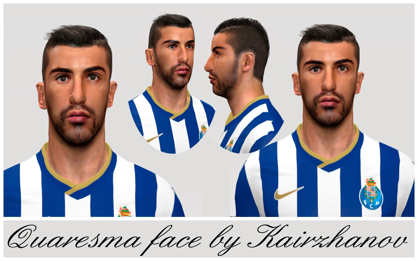 PES 2014 Quaresma Face by Kairzhanov