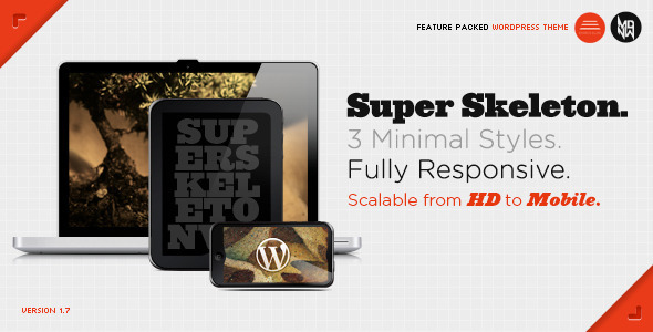 Image for Super Skeleton WP – Responsive Theme by ThemeForest