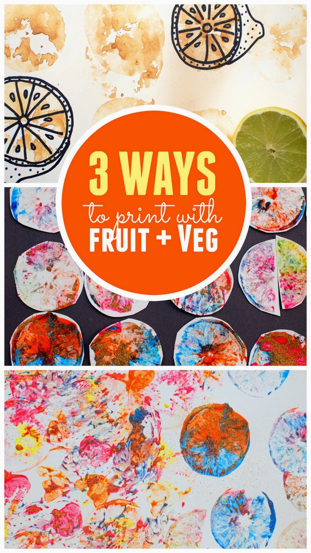 3 ways to make fruit and vegetable prints - Prints For Kids