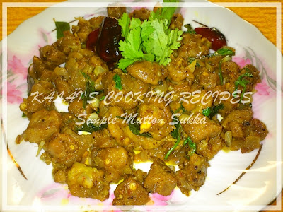 Simple Mutton Sukka