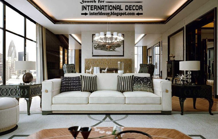 Stylish Art Deco interior design style and furniture, apartments london
