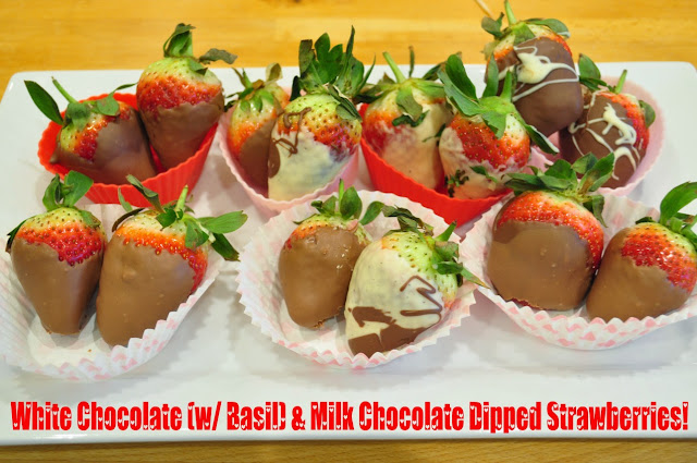 White Chocolate and Milk Chocolate dipped Strawberries