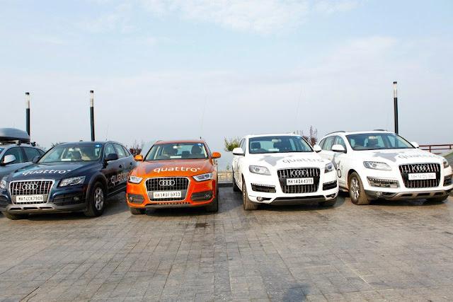The Audi Quattro Drive India AUDI Q3-AUDI Q5- AUDI Q7