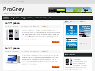ProGrey Blogger Template