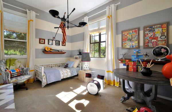 Decoração de quarto de menino azul