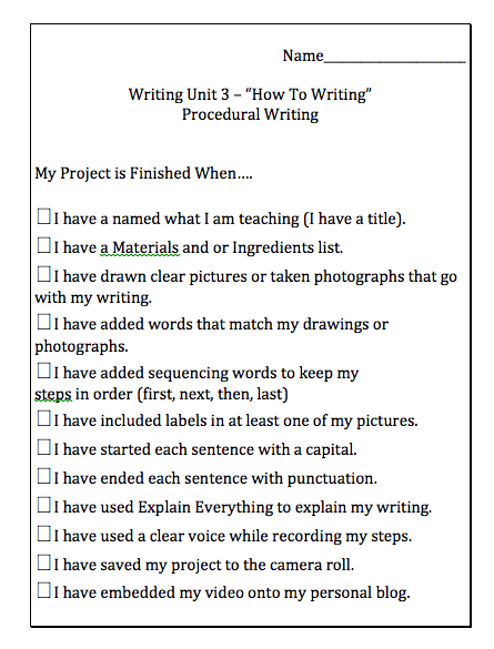 procedural writing topics A list of procedural writing prompts all worksheets are created by experienced and qualified teachers send your suggestions or comments.