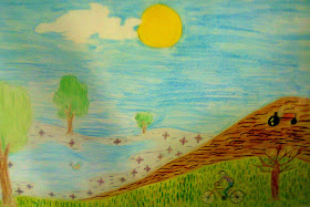 Desenho feito por um aluno do 5ºAno