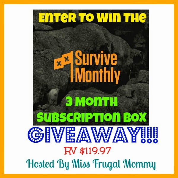 Survive Monthly 3 Month Subscription Box Giveaway