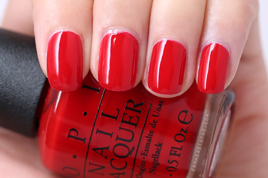Manicure Monday: OPI Red Hot Rio - From Head To Toe