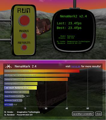 SKK Mobile Radiance NenaMark, 23.4 fps