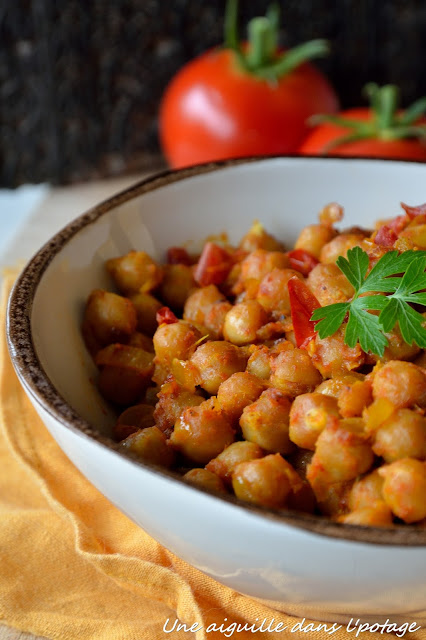 cuisine indienne curry pois chiche