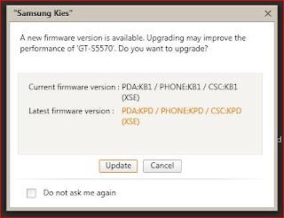 Cara Upgrade Samsung Galaxy Mini GT-S5570 via Samsung KIES