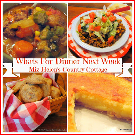 Whats For Dinner Next Week * Week Of 1-21-18