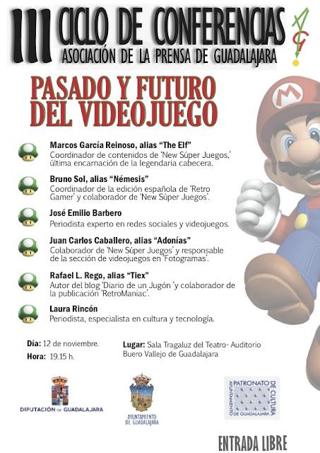 RetroManiac participa en la charla sobre videojuegos del ciclo de conferencias de la Asociación de Prensa de Guadalajara