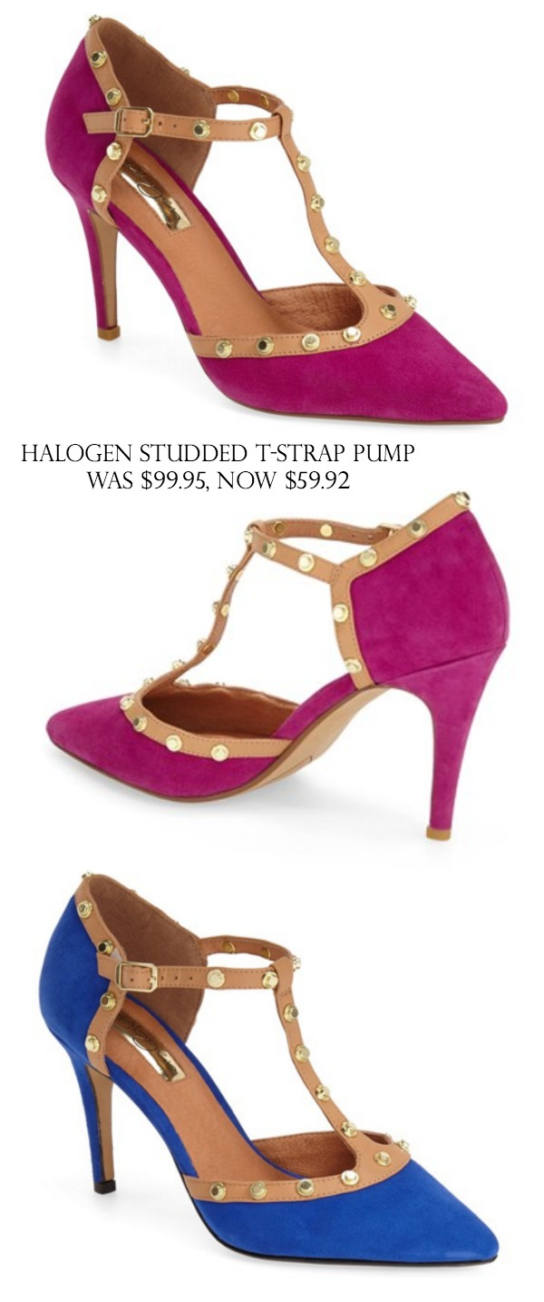 Halogen Studded T-Strap Pump $99.95, $59.92 (40% off) | Black Friday Sales