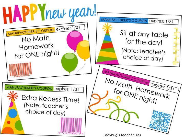 Ladybug's Teacher Files: editable holiday coupons for student gifts