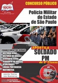 Apostila Concurso Polícia Militar do Estado de São Paulo para o cargo de Soldado PM de 2ª Classe
