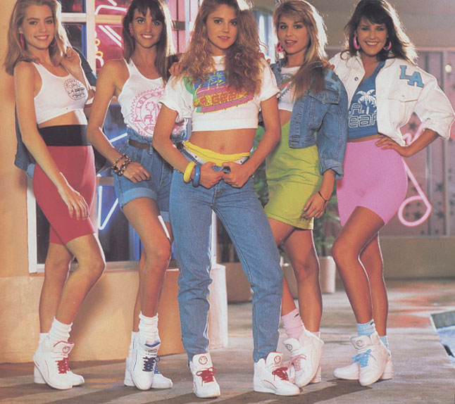 Late 80s Fashion LA Gear in the late s