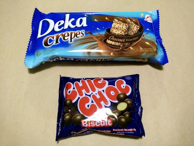 deka crepes, delfi chic choc biscuit