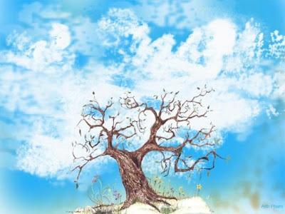 Hidden baby tree optical illusion