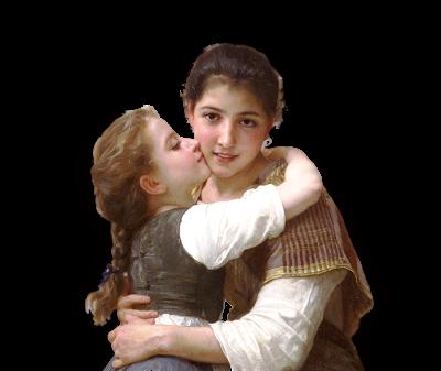 niñas vintage de Bouguerau