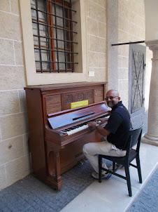 A photo-shoot on the organ at  Bratislava Main Town Centre.