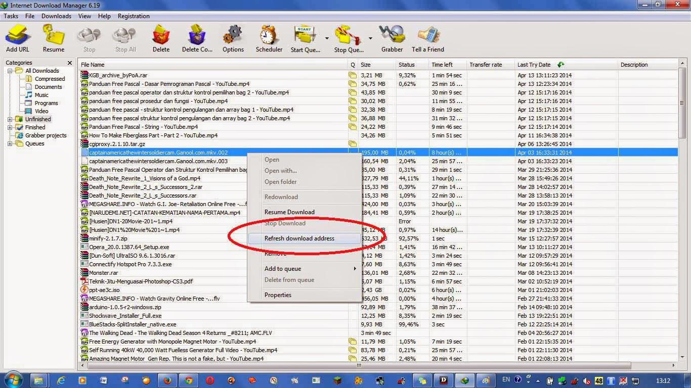 Trik Menyabung Download di IDM yang Terputus atau Macet