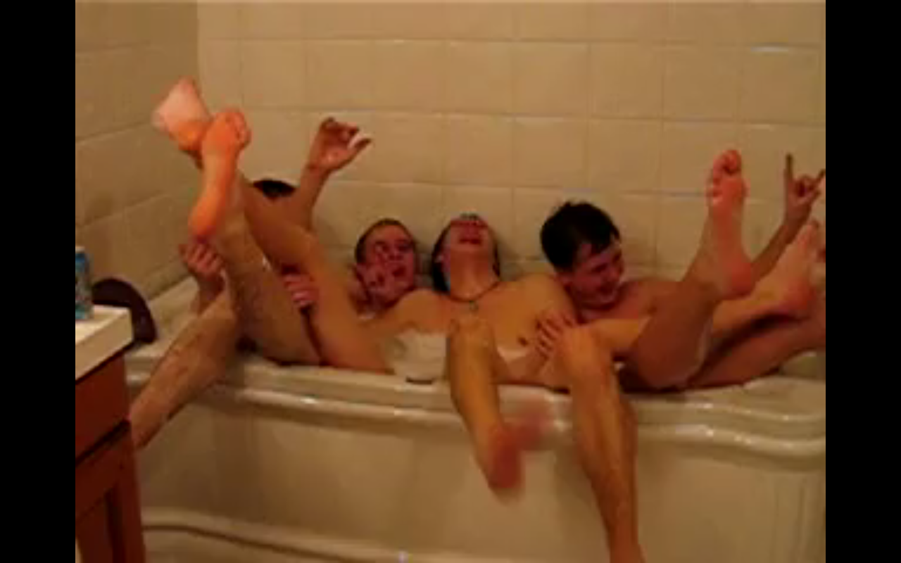 Naked European Men In Bath Together