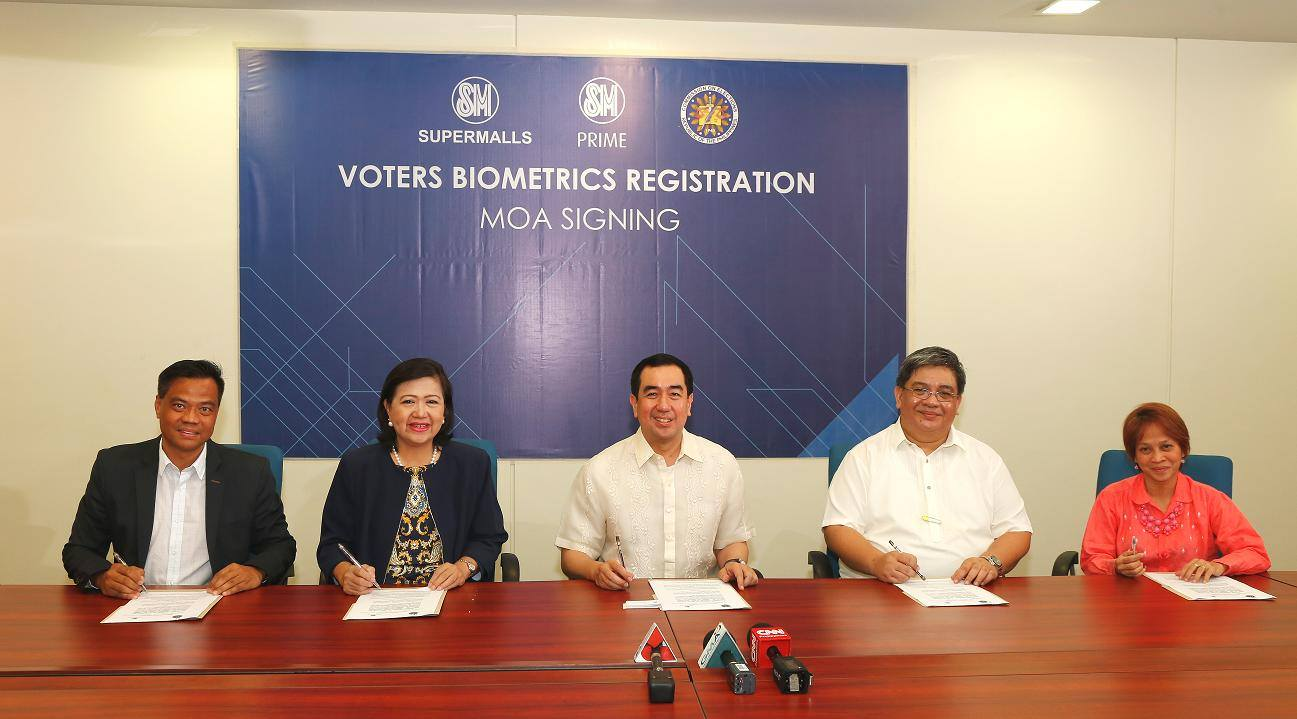 SM, COMELEC Voters Biometrics Registration program