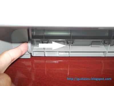 Impressora HP como abrir a tampa traseira.