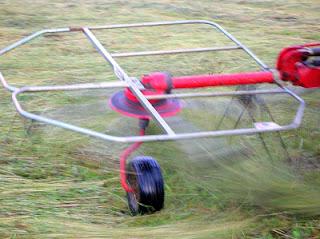 spinning tedder tines