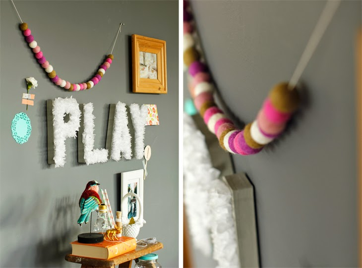 Nice colorful craft room