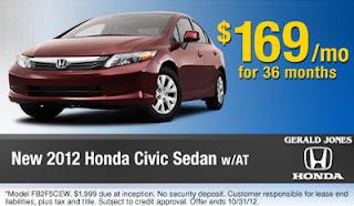 honda new car specials 3453534