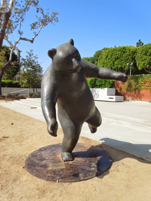 The Game bear sculpture West Hollywood