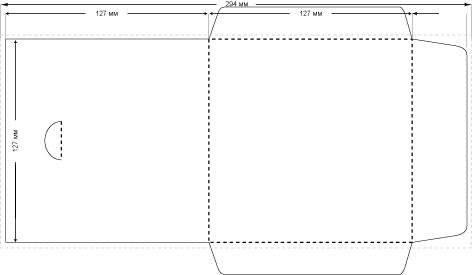 Как сделать конвертик для диска из бумаги а4