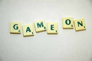Game on in scrabble letters