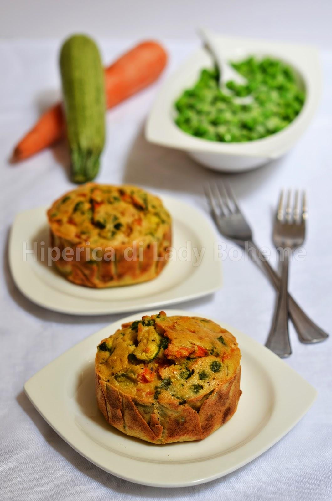 ricetta tortino di verdure al forno