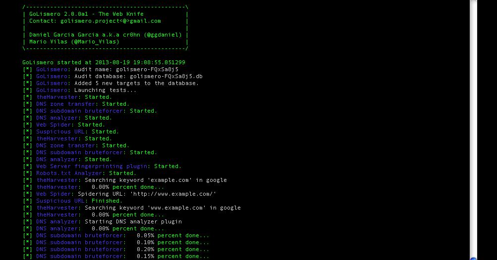 GoLismero: Nueva herramienta de hacking debutando en OWASP