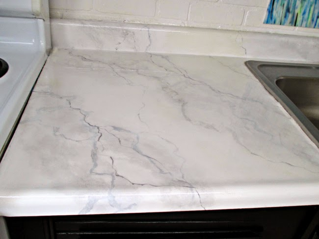 Superb DIY Faux Marble Countertops