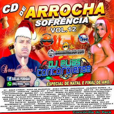 Cd de Arrocha Sofrência Vol.12 2015 Especial de Natal & Fim de Ano Dj Elias Concordiense ( Produção & Mixagem Dj Elias Concordiense )