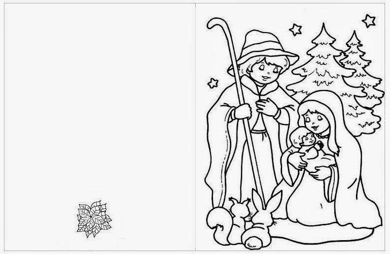 Maestra de primaria tarjetas de navidad para colorear - Dibujos tarjetas navidenas ...
