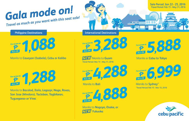 Cebu Pacific Seat Sale 2016!