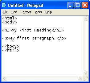 Paste HTML in Notepad