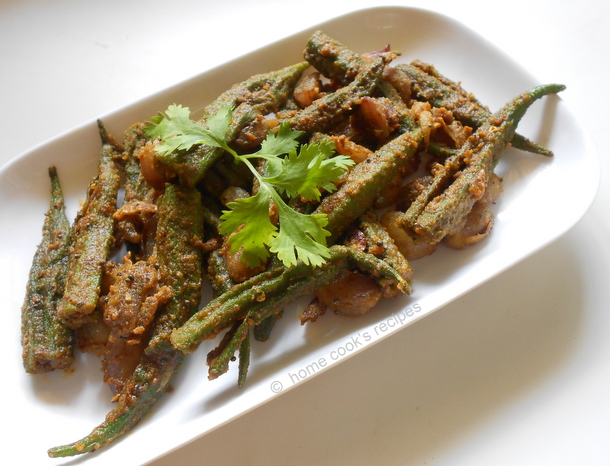 Bhindi fry home cooks recipe microwave oven makes magic with bhindi i microwave chopped bhindi pieces with a tsp of oil and microwave it on high for 4 minutes forumfinder Choice Image