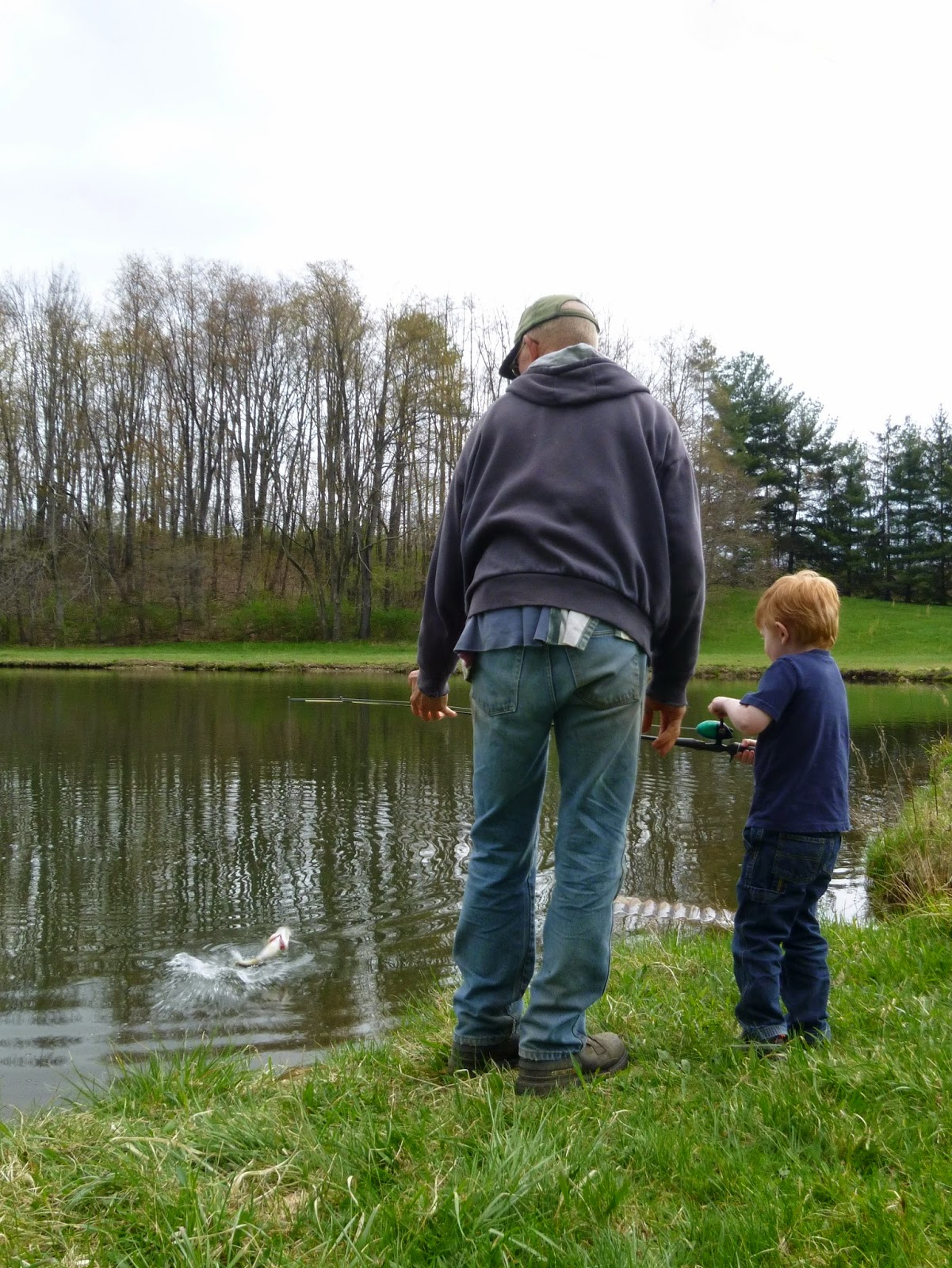 Porter Fishing with Grandpa
