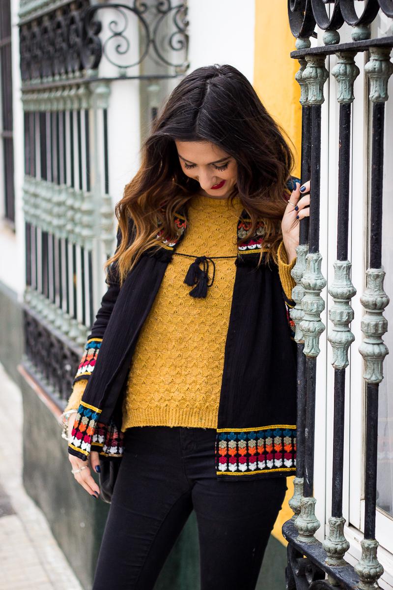 chaqueta azteca zara